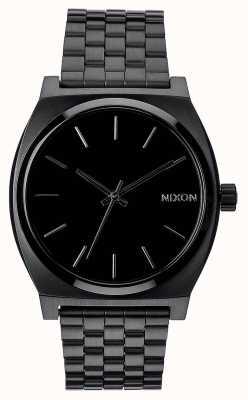 Nixon Caixa de tempo | tudo preto | pulseira de aço ip preto | mostrador preto A045-001-00