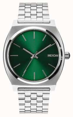 Nixon Caixa de tempo | raio de sol verde | pulseira de aço inoxidável | mostrador verde A045-1696-00