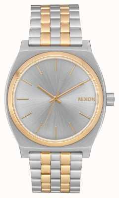 Nixon Caixa de tempo | prata / ouro | pulseira de aço em dois tons | mostrador prateado A045-1921-00