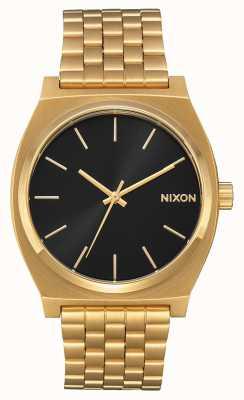Nixon Caixa de tempo | todo o raio de sol dourado / preto | pulseira ip em ouro | mostrador preto A045-2042-00