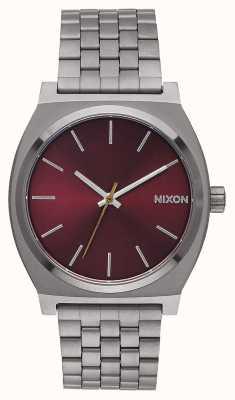 Nixon Caixa de tempo | metal de bronze / borgonha profundo | pulseira de metal em ip | mostrador cor de vinho A045-2073-00