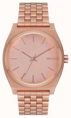 Nixon Caixa de tempo | todo ouro rosa | pulseira em ouro rosa | mostrador de ouro rosa A045-897-00