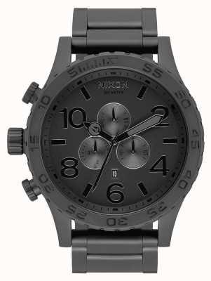Nixon 51-30 crono | todo preto fosco / preto | pulseira ip preta | mostrador preto A083-3086-00