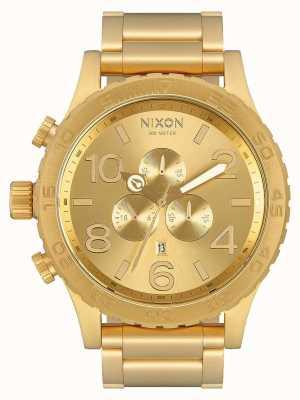 Nixon 51-30 crono | todo ouro | pulseira ip em ouro | mostrador de ouro A083-502-00