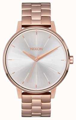 Nixon Kensington | ouro rosa / branco | ross gold ip pulseira | mostrador prateado A099-1045-00