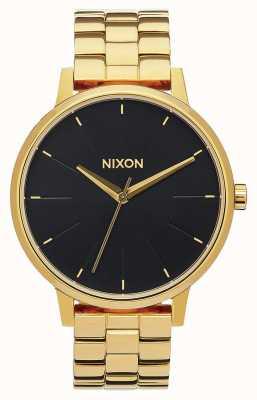 Nixon Kensington | todo o raio de sol dourado / preto | pulseira ip em ouro | mostrador preto A099-2042-00