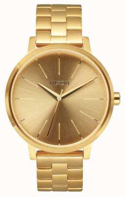 Nixon Kensington | todo ouro | pulseira de ouro ip aço | mostrador de ouro A099-502-00