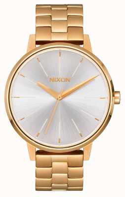 Nixon Kensington | ouro / branco | pulseira ip em ouro | mostrador prateado A099-508-00