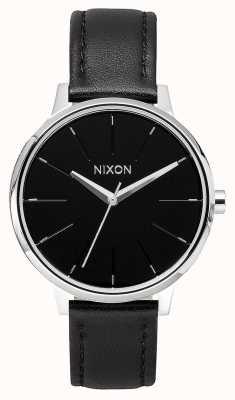 Nixon Couro Kensington | preto | pulseira de couro preta | mostrador preto A108-000-00