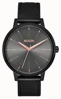Nixon Couro Kensington | preto / bronze | pulseira de couro preta A108-1420-00