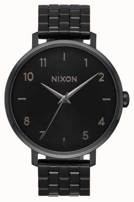 Nixon Arrow | tudo preto | pulseira de aço ip preto | mostrador preto A1090-001-00