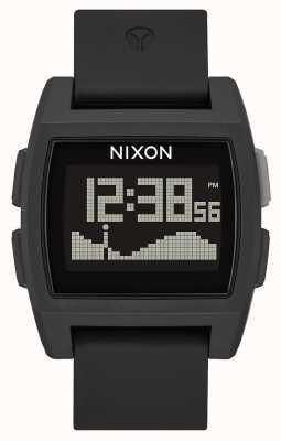 Nixon Maré baixa | tudo preto | digital | pulseira de silicone preta | A1104-001-00