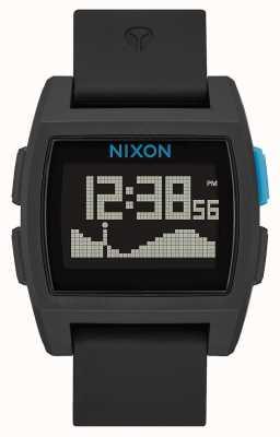 Nixon Maré baixa | preto / azul | digital | pulseira de silicone A1104-018-00