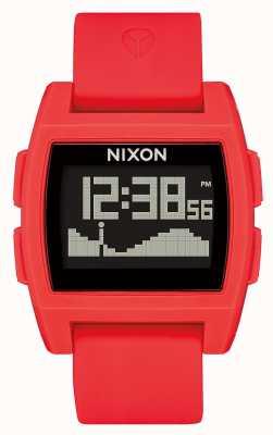 Nixon Maré baixa | vermelho | digital | pulseira de silicone vermelha A1104-200-00