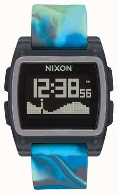 Nixon Maré baixa | água-viva azul | digital | pulseira de silicone multicolorida A1104-3176-00