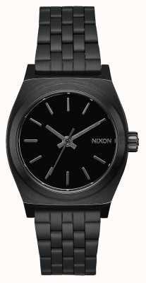 Nixon Caixa de tempo médio | tudo preto | pulseira de aço ip preto | mostrador preto A1130-001-00