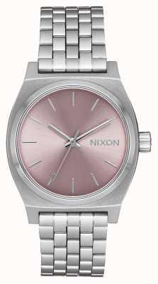 Nixon Caixa de tempo médio | prata / lavanda pálida | pulseira de aço inoxidável | A1130-2878-00