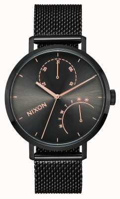 Nixon Embreagem | preto / bronze | malha de aço ip preta | mostrador preto A1166-1420-00