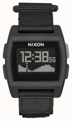 Nixon Nylon base maré | tudo preto | digital | pulseira de náilon preta A1169-001-00