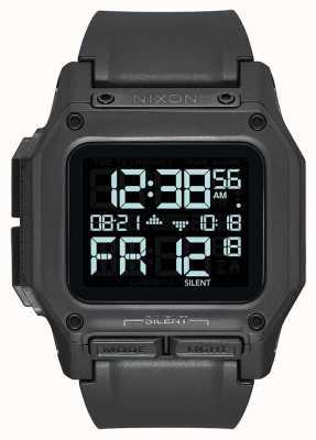 Nixon Regulus | tudo preto | digital | pulseira tpu preta A1180-001-00