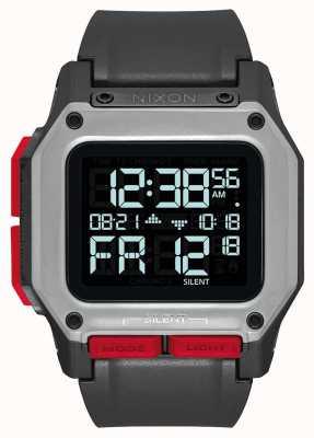 Nixon Regulus | preto / vermelho | digital | pulseira tpu preta A1180-008-00