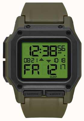 Nixon Regulus | excedente / carbono | digital | cinta tpu verde A1180-3100-00