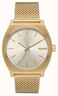 Nixon Caixa de tempo milanês | todo ouro / creme | malha de aço ip ouro | mostrador creme A1187-2807-00