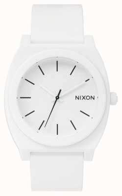 Nixon Caixa de tempo p | branco fosco | pulseira de silicone branca | mostrador branco A119-1030-00