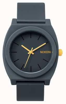 Nixon Caixa de tempo p | cinza aço fosco | pulseira de silicone cinza | mostrador cinza A119-1244-00