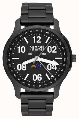 Nixon Ascender | preto / lum | pulseira de aço ip preto | mostrador preto A1208-2474-00