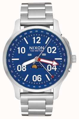 Nixon Ascender | prata / azul | pulseira de aço inoxidável | mostrador azul A1208-722-00