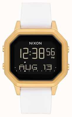Nixon Siren ss | ouro / branco | digital | pulseira de silicone branca A1211-508-00