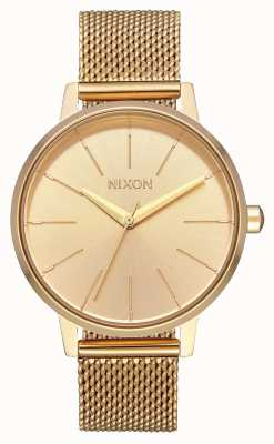 Nixon Kensington milanese | todo ouro | malha de aço ip ouro | mostrador de ouro A1229-502-00