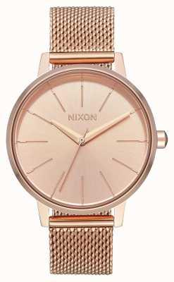 Nixon Kensington milanese | todo ouro rosa | malha ip de ouro rosa | mostrador de ouro rosa A1229-897-00