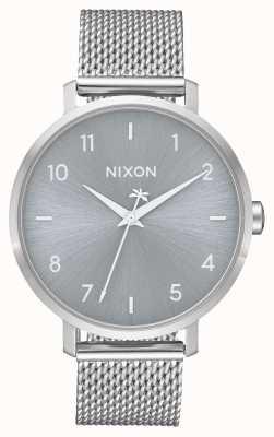 Nixon Arrow milanese | toda prata | malha de aço inoxidável | mostrador prateado A1238-1920-00