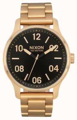 Nixon Patrol | ouro / preto | pulseira de ouro ip aço | mostrador preto A1242-513-00