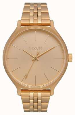 Nixon Clique | todo ouro | pulseira de ouro ip aço | mostrador de ouro A1249-502-00
