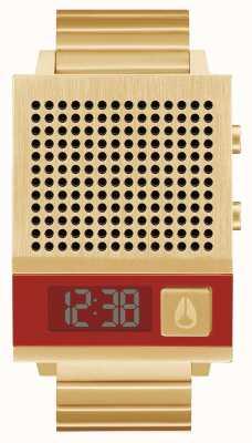 Nixon Dork também | todo ouro | digital | pulseira de ouro ip aço | falando A1266-502-00