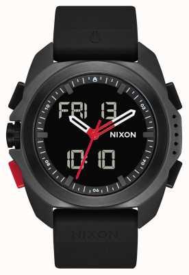 Nixon Ripley | preto / vermelho / recco | digital | pulseira tpu preta | A1267-3251-00