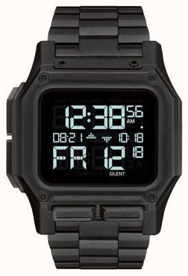 Nixon Regulus ss | tudo preto | digital | pulseira de aço ip preto A1268-001-00