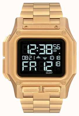 Nixon Regulus ss | todo ouro | digital | pulseira de ouro ip aço | A1268-502-00