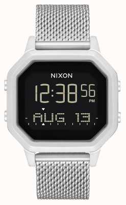 Nixon Siren milanesa | toda prata | digital | pulseira de malha de aço inoxidável A1272-1920-00