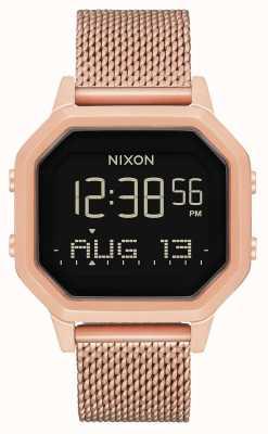 Nixon Siren milanesa | todo ouro rosa | digital | malha de aço ip ouro rosa | A1272-897-00