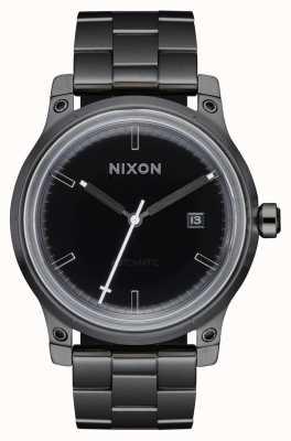 Nixon 5º elemento | preto / bronze | pulseira de aço ip preto A1294-1420-00