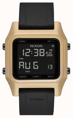 Nixon Grampo | preto / ouro | digital | pulseira de silicone preta A1309-010-00