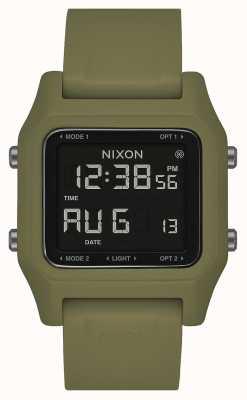 Nixon Grampo | azeitona | digital | pulseira de silicone verde oliva A1309-333-00