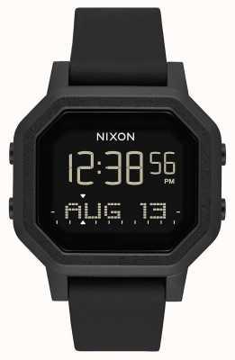 Nixon Siren | tudo preto | digital | pulseira de silicone preta A1311-001-00