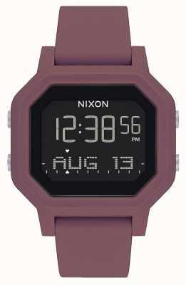 Nixon Siren | Borgonha | digital | pulseira de silicone cor de vinho A1311-234-00