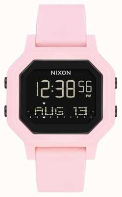 Nixon Siren | rosa pálido | digital | pulseira de silicone rosa A1311-3154-00