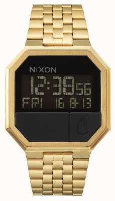 Nixon Executar novamente | todo ouro | digital | pulseira de ouro ip aço A158-502-00